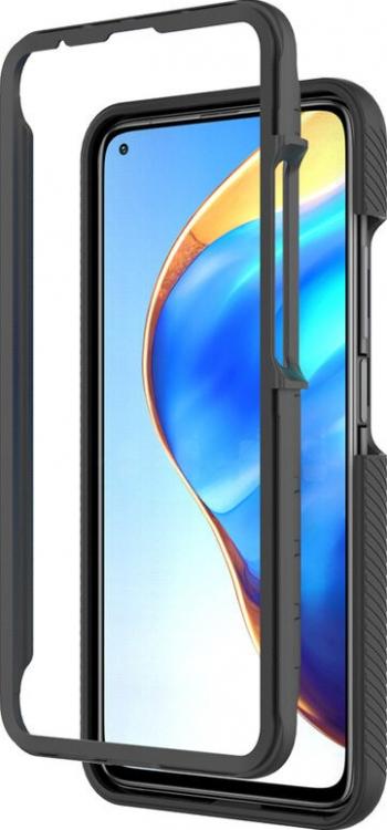 Husa Upzz Techsuit Defense 360 Compatibila Cu Xiaomi Mi 11 Folie Protectie Inclusa Negru