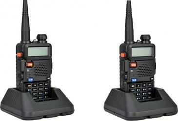 Set 2 bucati statie radio portabila emisie receptie Walkie Talkie UV-5R ultima versiune putere 5W 136 - 174 MHz / 400-520 Mhz