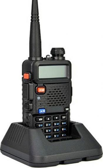 Statie radio portabila emisie receptie Walkie Talkie UV-5R versiune upgrade putere 8W 136 - 174 MHz / 400-520 Mhz casca cu microfon