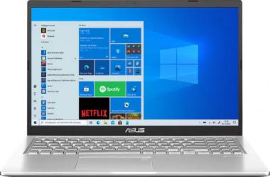 UltraBook ASUS X515JA Intel Core (10th Gen) i3-1005G1 256GB SSD 8GB FullHD Win10 T.Ilum. Transparent Silver