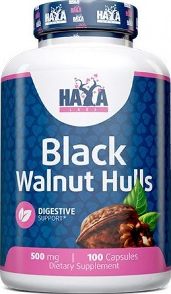 Haya Labs Coaja de nuc neagru 500mg 100 Capsule