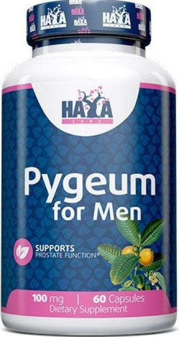 Haya Labs Pygeum extract pentru barbati 100mg 60 Capsule