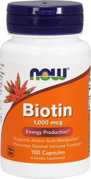 NOW Foods Biotin 1000mcg - 100 Capsule