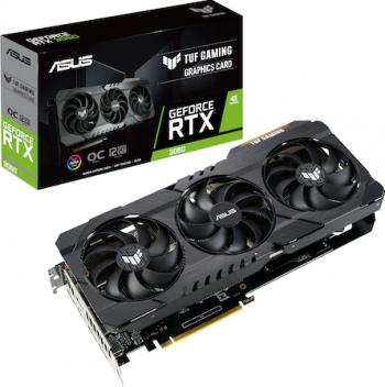 Placa video ASUS TUF Gaming GeForce RTX 3060 OC V2 12GB GDDR6 192-bit