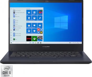 Laptop ASUS ExpertBook P2451FA Intel Core (10th Gen) i5-10210U 256GB SSD 8GB FullHD Win10 Pro FPR Tast. ilum. Black