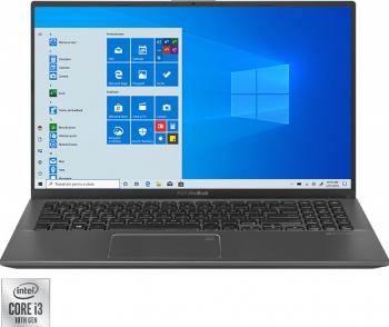 Ultrabook ASUS Vivobook 15 X512 Intel Core (10th Gen) i3-10110U 512GB SSD 8GB FullHD Win10 Pro FPR Tast. ilum. Slate Grey