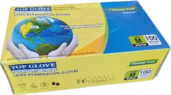 Set 100 Manusi Latex Top Glove marimea M Bej