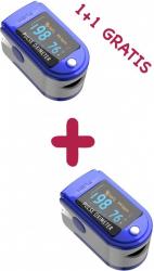 1+1 GRATIS Aparat de masurare puls Oximetru pentru deget cu display Pulsoximetru Masurare Saturatie Oxigen Pentru Deget Ingrijire Pers