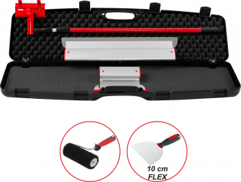 Kit Gletiere Profesionale Premium ZuperPRO cu Trafalet pentru Glet si Spaclu Set 2 Gletiere 25/60 cm + Prelungitor 1.6m + Carcasa XL