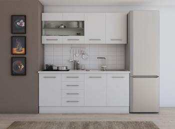 Set mobila bucatarie Alfa 180 cm culoare alb