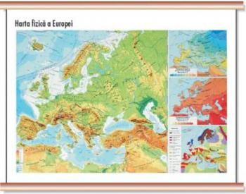 Europa - Harta fizica Cartographia 1 40 000 000