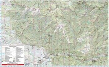 Muntii Calimani - Harta de drumetie - Muntii nostri