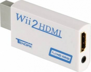 Adaptor convertor OEM consola Nintendo Wii la HDMI Cu 3.5mm audio output 1080p Alb
