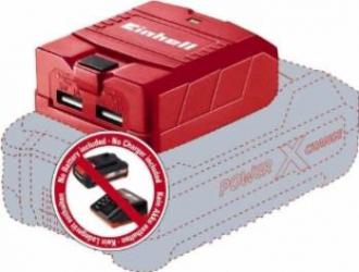 pret preturi Adaptor USB Einhell Power-X-Change pentru acumulatori TE-CP 18 Li USB-Solo,18V iesire 5V 2.1