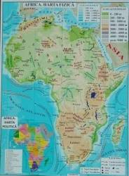 Africa + Australia - Harta Fizica A3 Harti