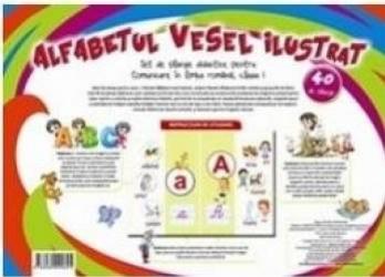 Alfabetul vesel ilustrat - 40 de planse Carti