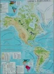 America - Harta Fizica + Harta Politica A3 Harti
