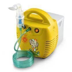 Aparat aerosoli Little Doctor LD 211C galben nebulizator cu compresor 3 dispensere 3 masti Cantare, termometre si aerosoli