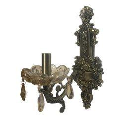 Aplica dc 8043/1 schelet bronz antic metal sticla si cristal 1E14 Corpuri de iluminat