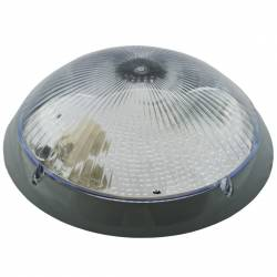 Aplica Mirsa Nemli Oval Gri Transparent E27 IP65 D 30Cm Corpuri de iluminat