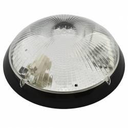 Aplica Mirsa Nemli oval negru transparent E27 IP65 D 30cm Corpuri de iluminat