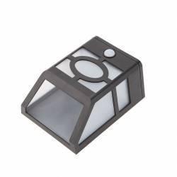 Aplica solara 10 x LED-uri putere 0.55W senzor de miscare ABS Corpuri de iluminat