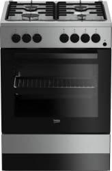 Aragaz Beko FSE62110DX 4 Arzatoare Gaz cuptor electric aprindere electrica 60 cm Inox