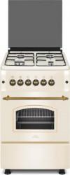 Aragaz Nuova Cucina Vintage 50 55 cm 4 arzatoare gaz Cuptor gaz Grill electric Aprindere electrica Beige Aragazuri