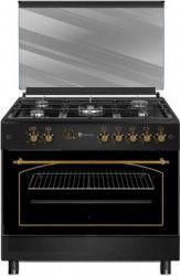 Aragaz rustic Studio Casa Modena Antracit FE90/60 5G 5 arzatoare Rotisor Grill Negru