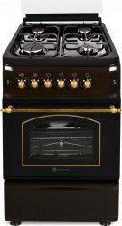 Aragaz rustic Studio Casa Verona Retro Brown 50 55 cm 4 arzatoare gaz Cuptor gaz Aprindere electrica Gril Maro