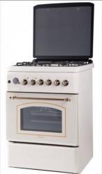 Aragaz Studio Casa FE60/60 3G+1E Avena , Gaz, 3 arzatoare gaz - 1 arzator electric, Aprindere electrica plita, Siguranta plita si cuptor