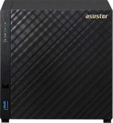 Asustor AS1004Tv2 4-Bay, 512MB RAM, 1 x Gigabit, 2 x USB3.0 Black Network attached storage NAS