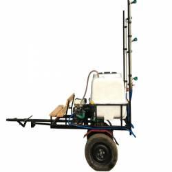 Atomizor pulverizator aparat de stropit trctabil tip remorca BSR DVS 300 pentru motocultoare ATV tractooare