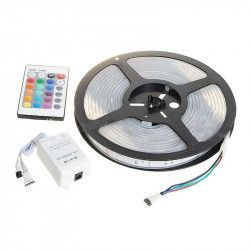 Banda LED SMD 5050 RGB Lungime 5 Metri cu controller telecomanda transformator
