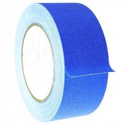 Banda textila neon fluorescenta adeziva rola 25 m 2.5 cm latime albastru