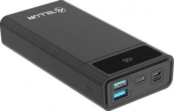 Baterie externa Tellur PD200 20.000mAh 1 x Lightning 2 x USB Type-C 2 x USB 3.0 PD 18W Negru