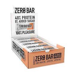 Batoane proteice fara zahar Zero Bar Protein BioTechUSA Cutie 20x50g Aroma Cappuccino Suplimente fitness