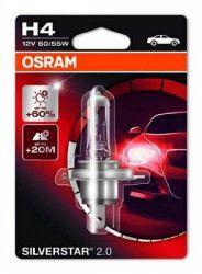Bec auto cu halogen pentru far Osram H4 Silverstar up to 60 12V 55W 1 Buc Lanturi auto