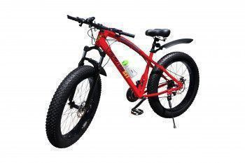 Bicicleta Fat Bike Originala Phantom Set and trade Rosu 26 3x7 Furca Reglabila Schimbatoare Shimano