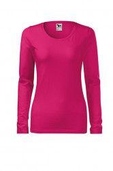 Bluza dama Malfini slim bumbac maneca lunga roz XL