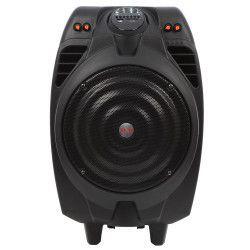 Boxa activa profesionala Akai cu Bluetooth Neagru USB Cititor SD Card MMC Intrare Instrument cu Jack 6 5mm Telecomanda si Microfon