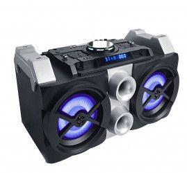 Boxa AKAI Activa Conectivitate Bluetooth Lumini pe Woofere Bass Putere RMS 50 W Frecventa 20HZ- 20KHZ Bateri LI-Ion Afisaj