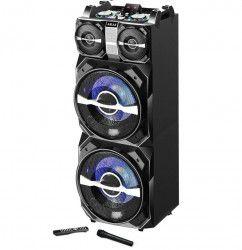 Boxa AKAI DJ Profesionala Activa portabila Conectiare prin Functia Bluetooth Port USB SD Card AUX Jack 3 5mm Telecomanda si