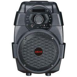Boxa AKAI portabila Activa cu sunet clar Conectivitate prin Functia Bluetooth Port USB Display LED 50Hz-20KHz Tuner FM Negru