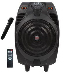 Boxa AKAI Portabila Conectivitate Bluetooth Port USB Cititor Card SD/Card MMC Intrare instrument cu jack 6 5 mm Negru