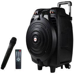 Boxa audio AKAI Portabila Microfon wireless Bluetooth Port USB Aux intrare Telecomanda inclusa Culoare Negru 8 Ohmi 50 W