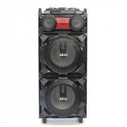 Boxa audio AKAI Portabila Profesionala puternica Microfon Wireless Telecomanda AUX / USB / SD / BT / FM Functie vocala Cablu