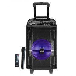 Boxa Audio Profesionala AKAI MusicBox Putere 300W PMPO Microfon WIRELESS Port USB si Conectivitate prin functia Bluetooth Negru