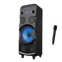 Boxa portabila 320 W PMPO Microfon Inclus Display LED RMS iesire 80 W 9000 mAH Negru