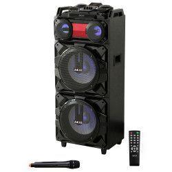 Boxa portabila 90W Bluetooth Microfon Karaoke Radio culoare Neagra